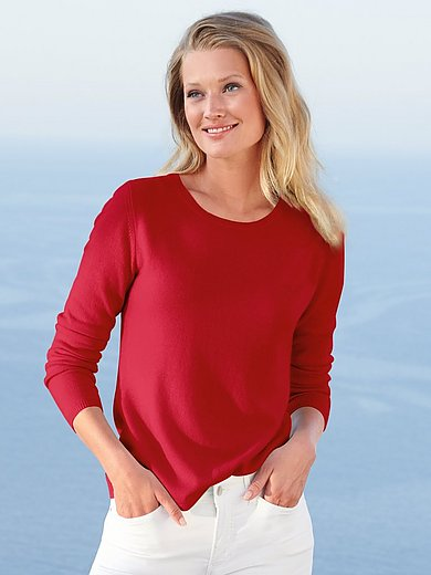include - Round neck jumper in pure new wool and cashmere