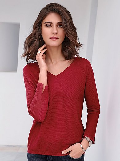 Gerry Weber - V-neck jumper with raglan sleeves