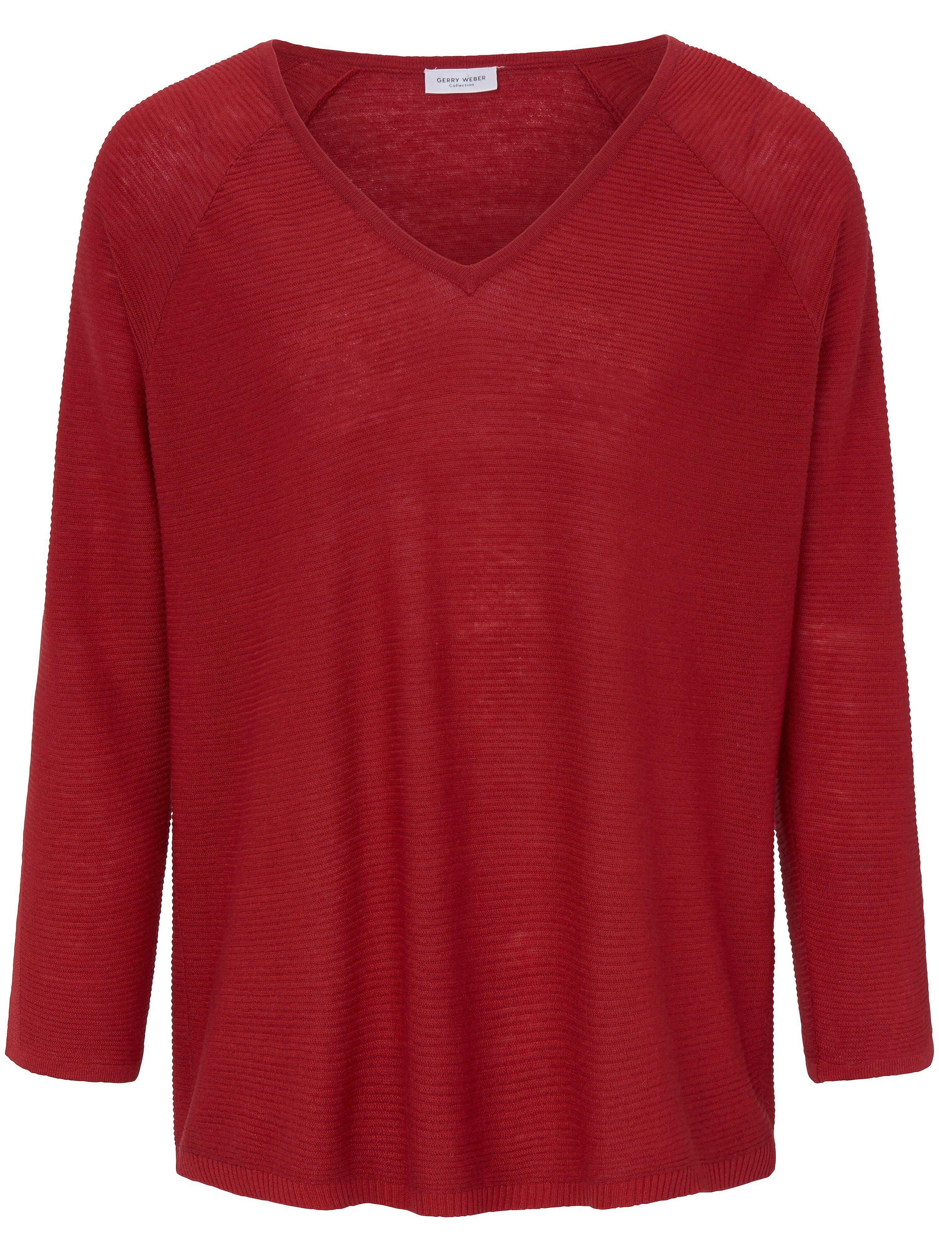 V-Pullover 7/8-Raglanarm Gerry Weber rot | Bekleidung > Pullover > V-Pullover | Gerry Weber
