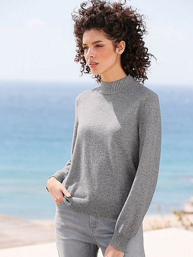 FTC Cashmere - Pullover with a raised collar in 100% cashmere