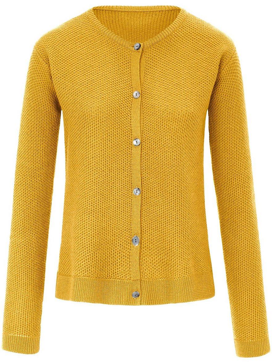 Strickjacke aus 100% Schurwolle Peter Hahn gelb Größe: 50   Bekleidung > Strickjacken & -mäntel > Strickjacken   Peter Hahn