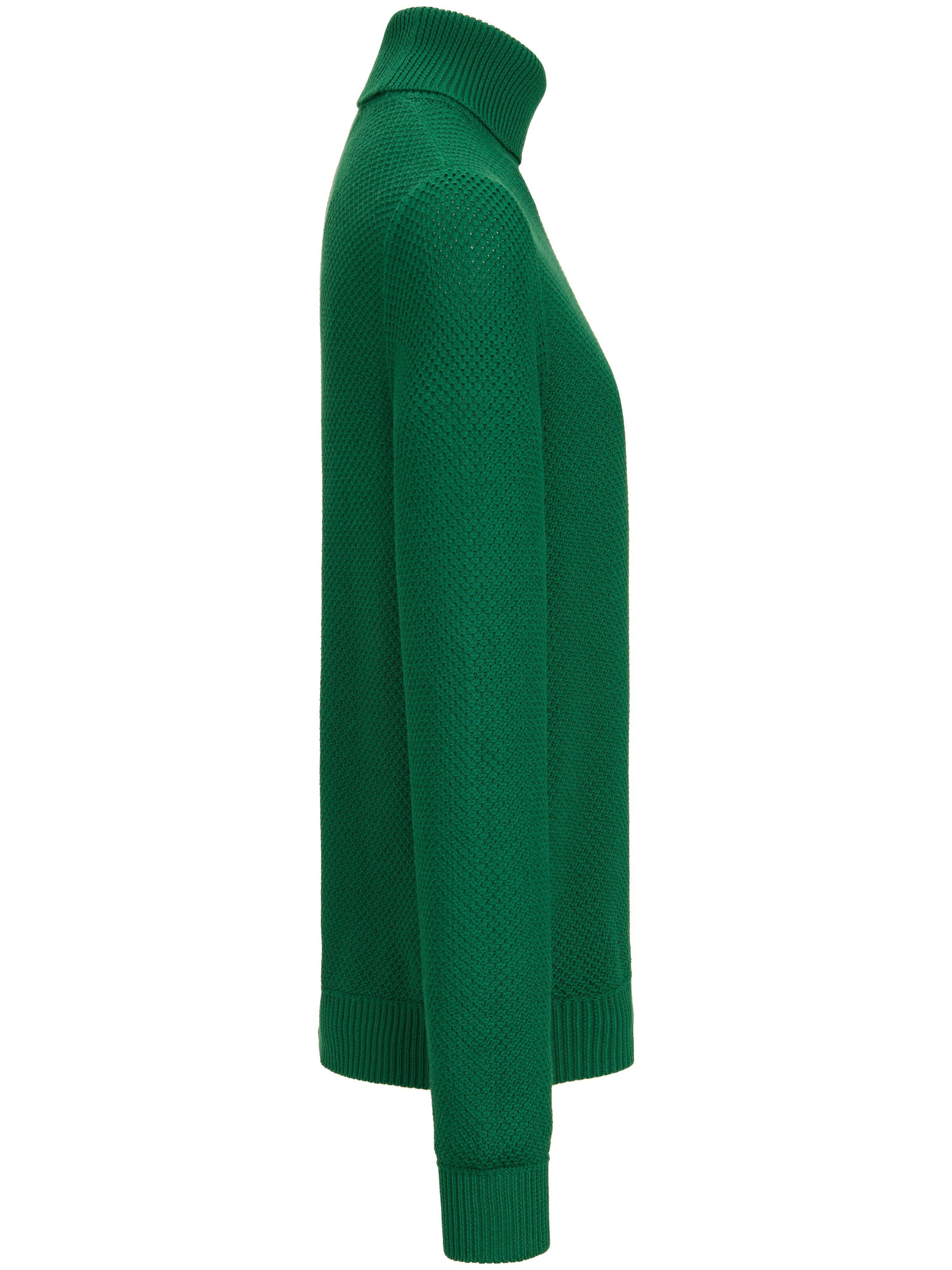 Strikbluse rullekrave Fra Peter Hahn grøn