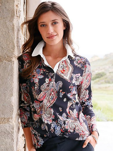 Efixelle - Polo shirt with long sleeves