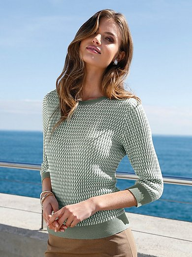 Peter Hahn - Le pull 100% coton Supima® manches 3/4.