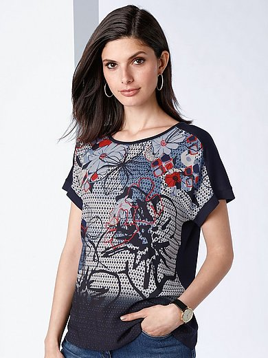 Rabe - Round neck top with drop shoulder