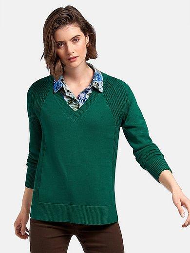 Peter Hahn - V-Pullover aus 100% Baumwolle Pima Cotton