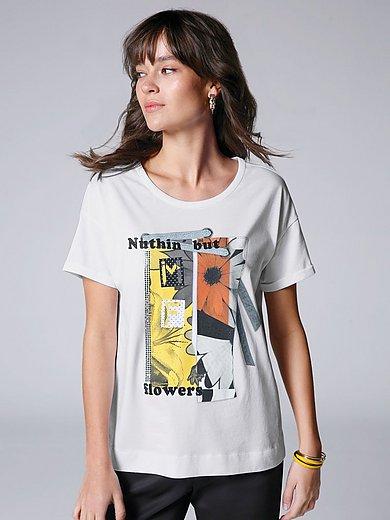 Margittes - Rundhals-Shirt mit leicht überschnittener Schulter