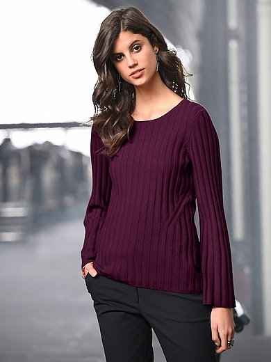 Laura Biagiotti Donna - Round neck jumper in Pure cashmere in premium qual