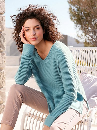 FTC Cashmere - V-neck jumper in 100% cashmere