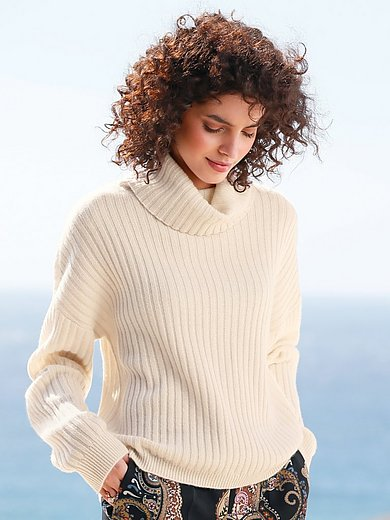 FTC Cashmere - Roll-neck jumper in 100% cashmere