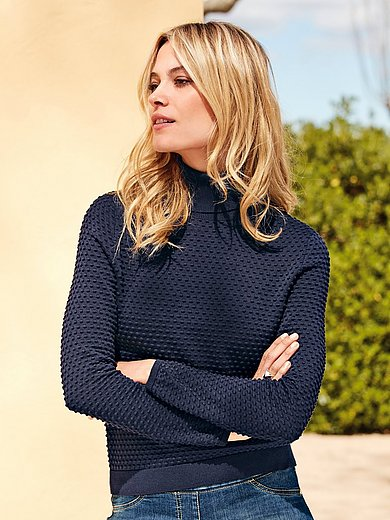 Peter Hahn - Roll neck pullover in 100% cotton