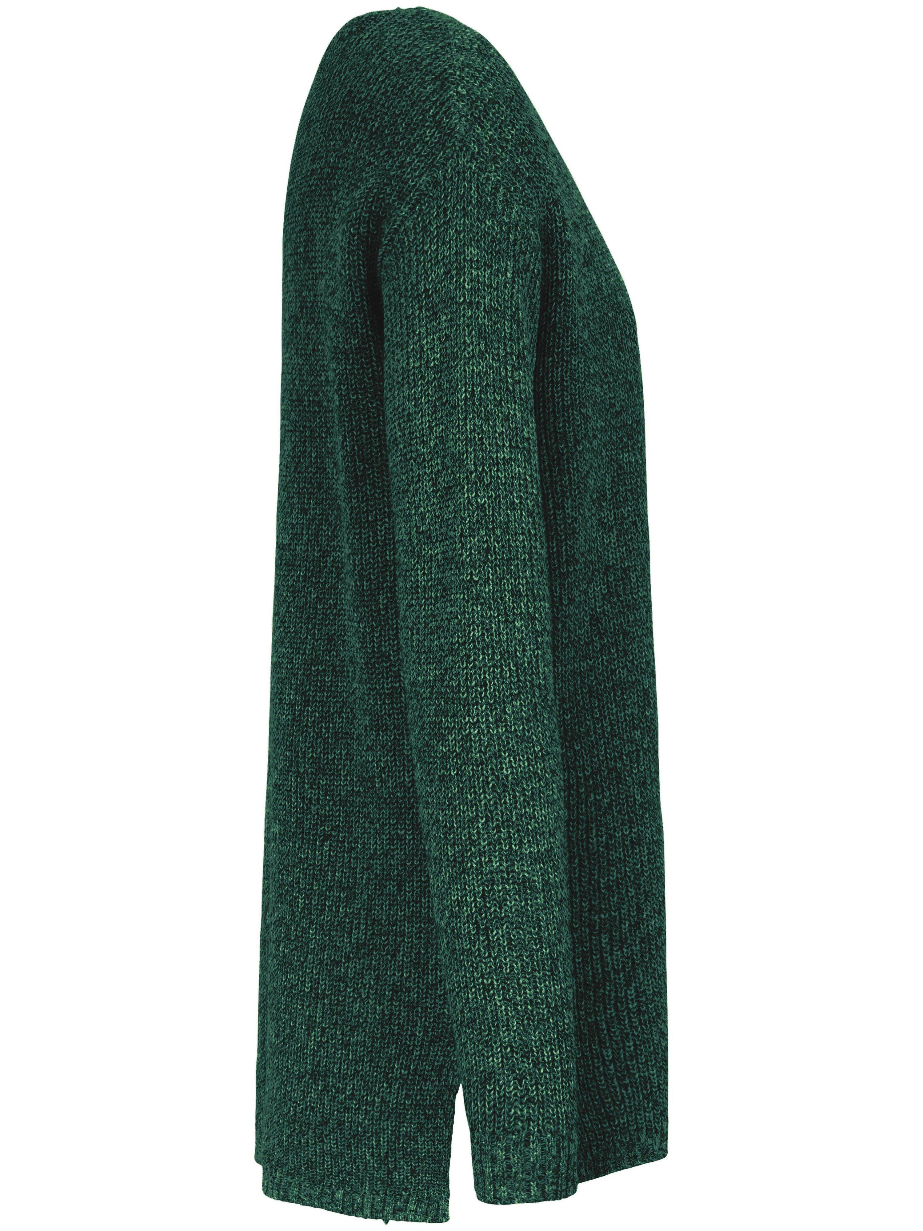 Strikbluse rund hals i 100% SUPIMA®-bomuld Fra Peter Hahn grøn