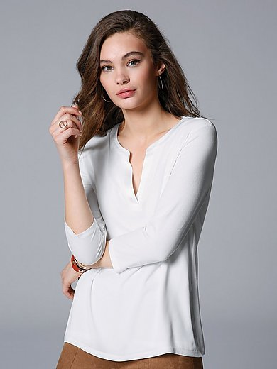 comma, - Blouse top with 3/4-length sleeves