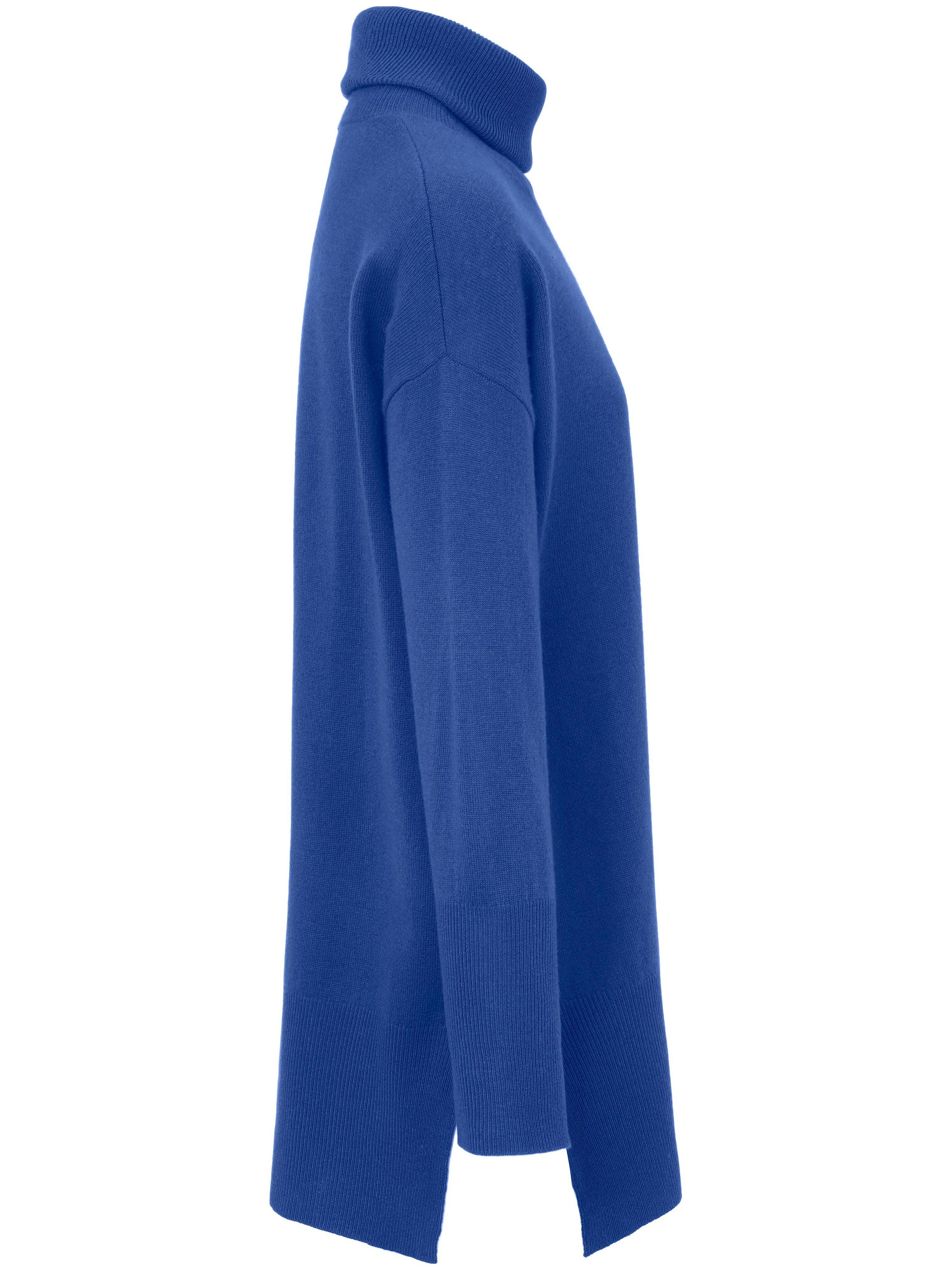 Strikbluse rullekrave Fra include blå