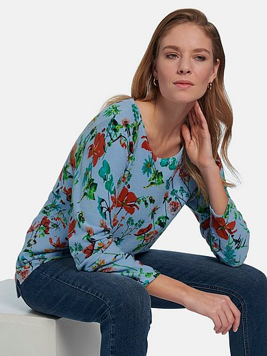 Peter Hahn - Round neck jumper with floral print