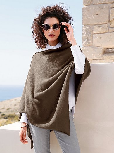 Peter Hahn Cashmere - Poncho in Pure cashmere in premium quality