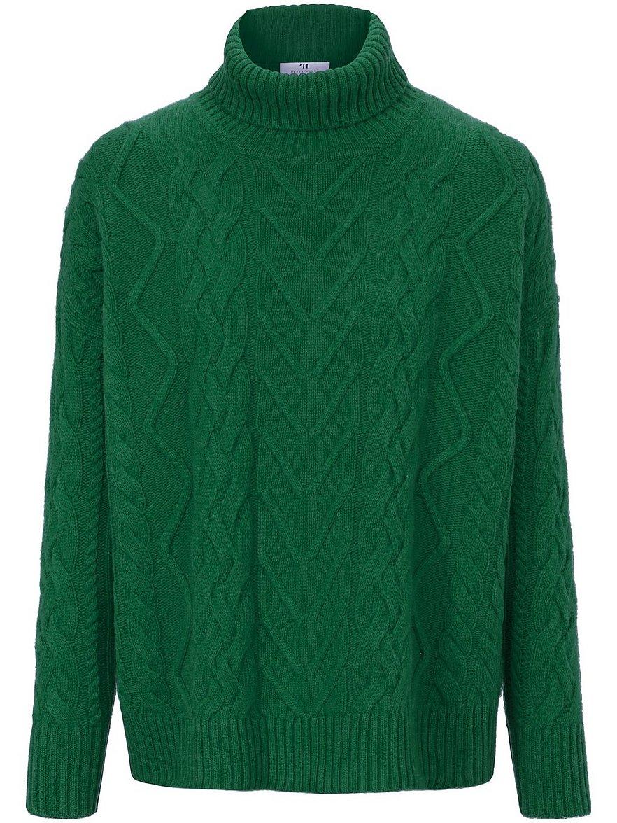 peter hahn - Rollkragen-Pullover aus 100% Schurwolle  grün Größe: 44