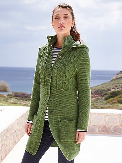 Georg Maier - Knitted coat in 100% new milled wool