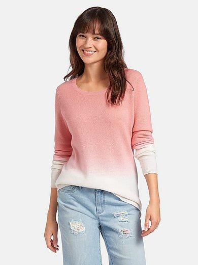 include - Rundhalsad tröja med lång ärm i 100% kashmir