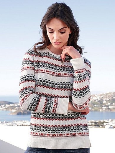 Barbour - Rundhals-Pullover mit Fair Isle-Muster