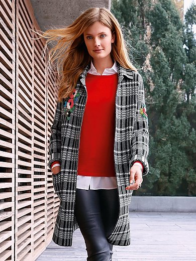include - Knitted coat in new milled wool and cashmere