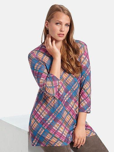 Anna Aura - Shirt met 3/4-mouwen en ruitprint