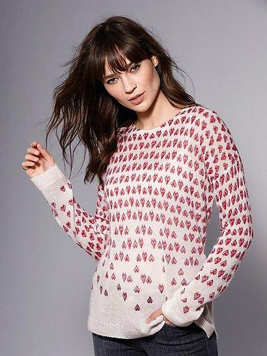 Brax Feel Good - Rundhals-Pullover mit Herzchen-Print