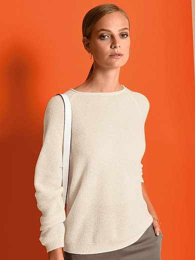 Fadenmeister Berlin - Round neck jumper with long raglan sleeves