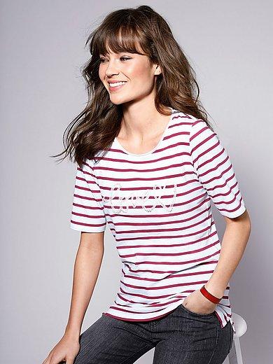 Brax Feel Good - Rundhals-Shirt mit Schriftzug vorne