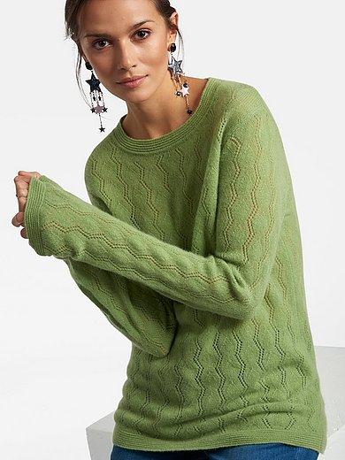 Laura Biagiotti Roma - Rundhalsad tröja med lång ärm i 100% kashmir