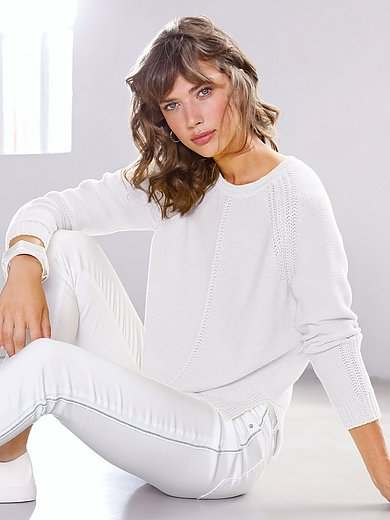Looxent - Round neck jumper in 100% cotton