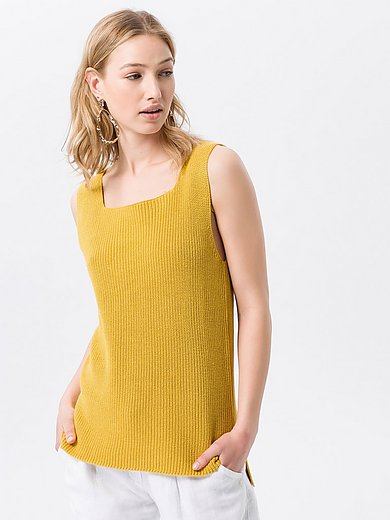 Peter Hahn - Sleeveless jumper with square neckline