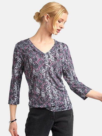Basler - V-neck shirt with 3/4-length sleeves