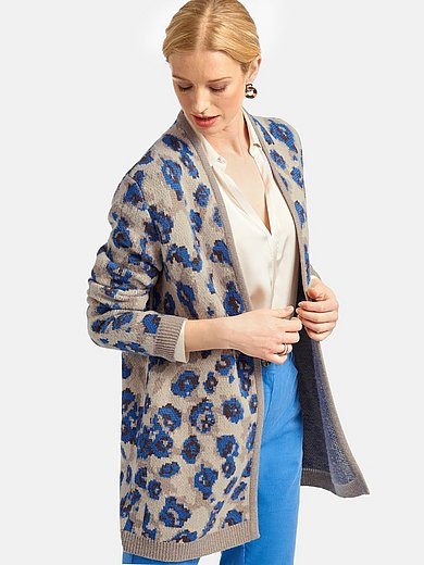 Basler - Cardigan with leopard print motifs