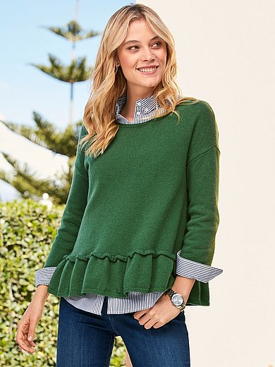LIEBLINGSSTÜCK - Round neck jumper with 3./4-length sleeves