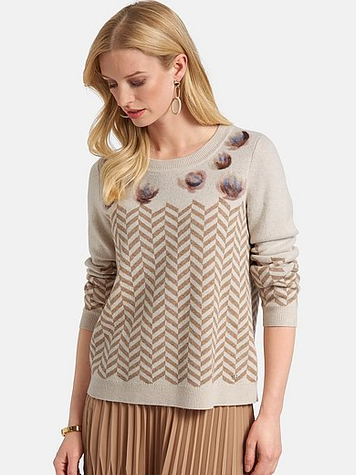 Basler - Round neck jumper with long sleeves