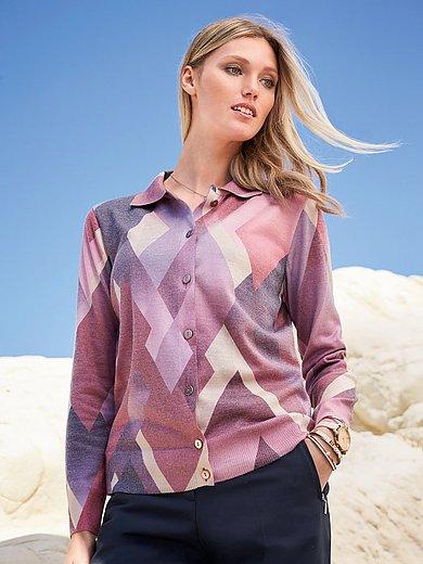 Dingelstädter - Pullover-Jacke mit Polo-Kragen