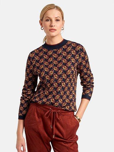 Basler - Pullover mit geripptem Stehkragen