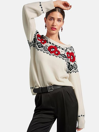Laura Biagiotti Roma - Round neck jumper with long sleeves