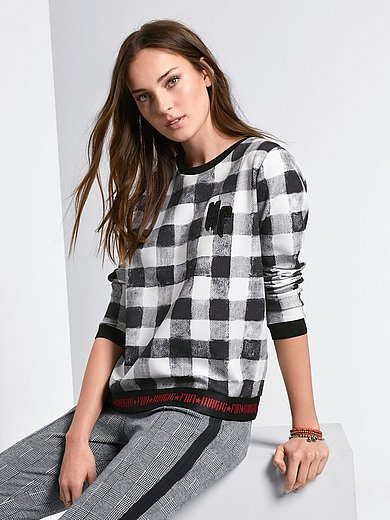 Margittes - Sweatshirt mit Karo-Print