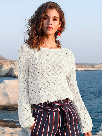 Peter Hahn - Knitted jumper with long sleeves