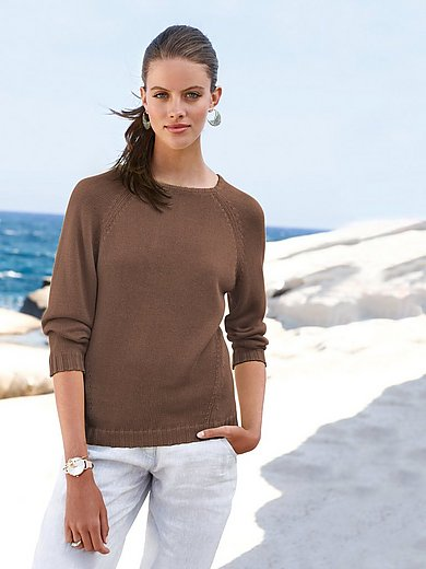 Peter Hahn - Round neck jumper with 7/8-length sleeves