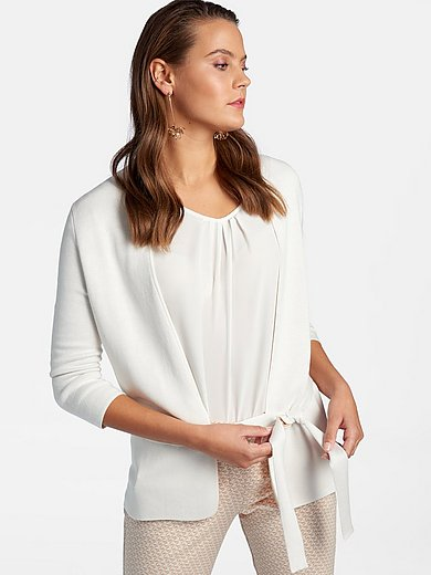 Basler - Open-front style cardigan with shawl collar