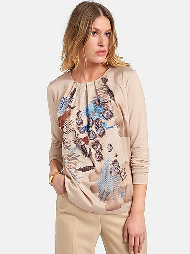 Basler - Round neck top with long sleeves