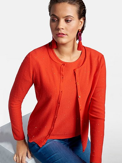 Basler - Straight cut cardigan with long sleeves