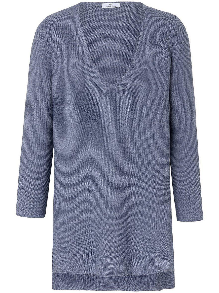 Long-Pullover V-Ausschnitt Peter Hahn blau Größe: 42 | Bekleidung > Pullover | Peter Hahn