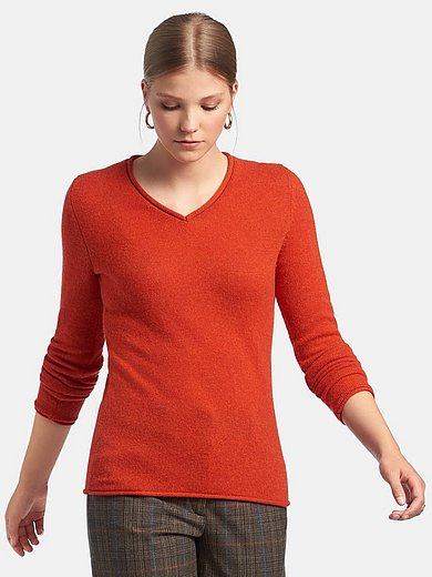 Fadenmeister Berlin - V-neck jumper with long sleeves