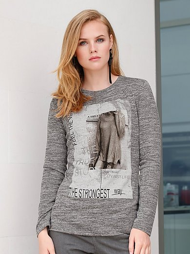 MYBC - Rundhals-Shirt mit Foto- und Statement-Print