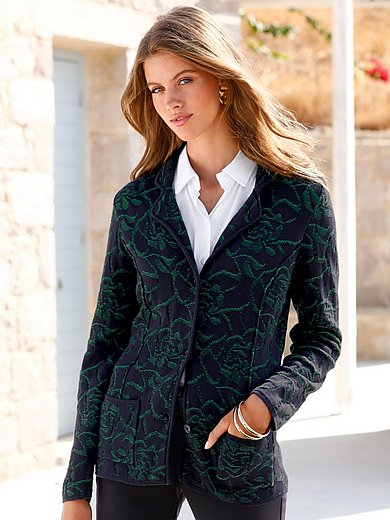 mayfair by Peter Hahn - Knitted blazer with revere collar