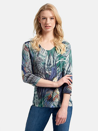 Basler - Shirt met licht ronde V-hals en 3/4-mouwen